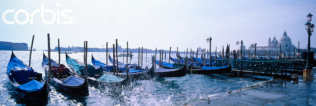 Venedig Moored Gondolas © Copyright Karl Heinz Haenel and CorbisImages 42-17195136