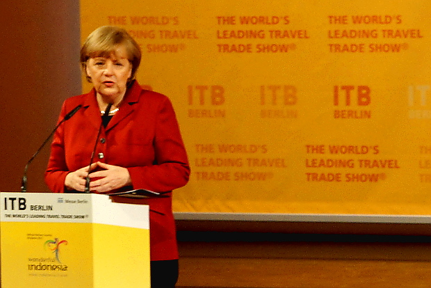 Angela Merkel eröffnete die ITB 2013 ITB Reisemesse 2013 © Copyright by PANORAMO