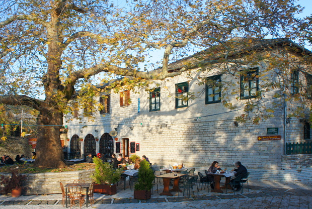 Taverne Kikitsas Zagori Epirus Griechenland © Copyright by PANORAMO DSC01233