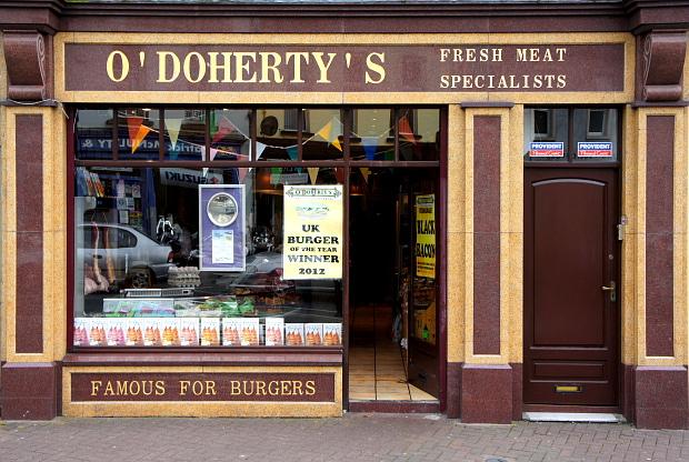 Pat O'Doherty black bacon Enniskillen, Co Fermanagh,Nord Irland, DSC06667