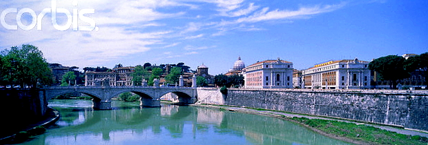 Ponte Vittoria Tiber Rom © Copyrights managed by Corbis Images