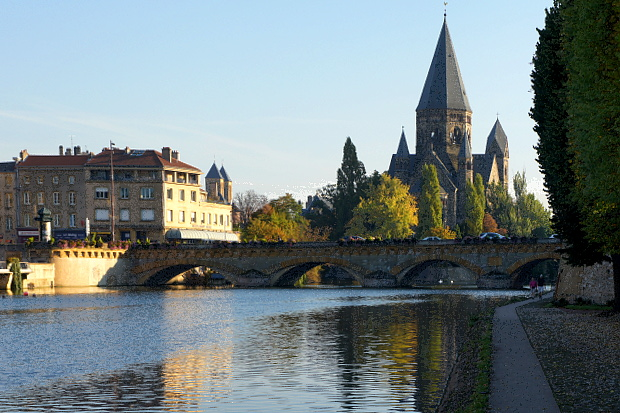 Temple Neuf an der Mosel in Metz © Copyright by PANORAMO#DSC03731