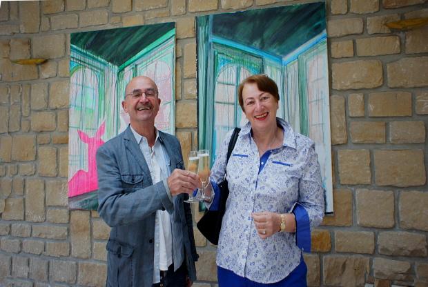 Maria und Michael, glücklich in Remich an der Mosel zu sein