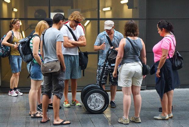 mit dem Segway durch die Innenstadt Budapest 2013 © Copyright by PANORAMO Bild lizensieren: briefe@panoramo.de