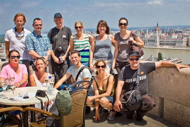 Blogger-Gruppe aus Deutschland / österreich im Juni 2013 in Budapest