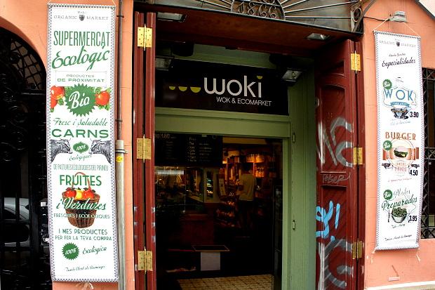 Woki Wok & Ecomarket Carrer Asturias 22, Stadtteil Gracia Barcelona ©Copyright  briefe@panoramo.de