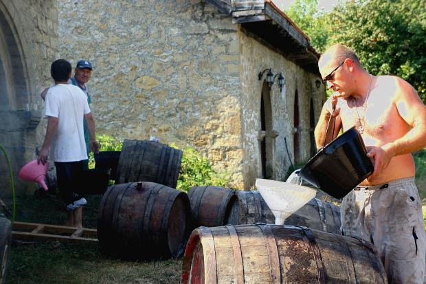 Weindorf Rajăţ / Rajac bei Rogijevo / Serbien © Copyright PANORAMO Bild lizensieren: briefe@panoramo.de