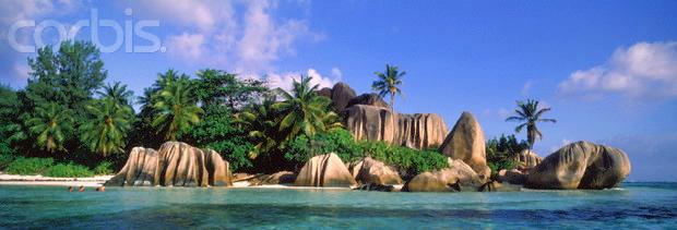 La Digue Seychellen © Copyright Karl Heinz Haenel and CorbisImages 42-15347943