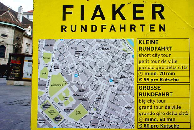 Fiaker von 10 h bis 22 h Wien © Copyright by PANORAMO Bild lizensieren: briefe@panoramo.de