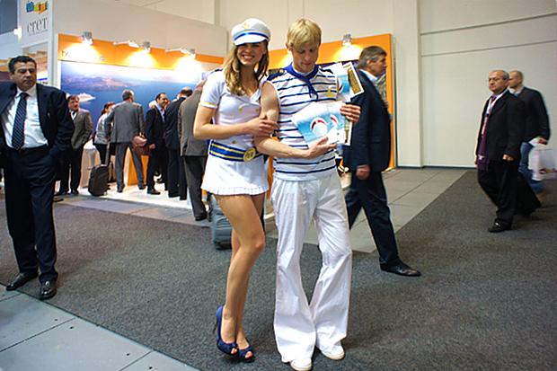 Werbung für die Reederei Deilmann auf der ITB © Copyright by PANORAMO Bild lizensieren: briefe@panoramo.de