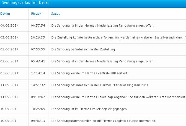 Screen Shot Hermes Sendungsverlauf 01150135832027
