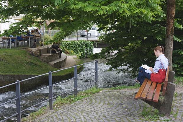 an der Blau im Fischer Viertel Ulm © Copyright by PANORAMO Bild lizensieren: briefe@panoramo.de