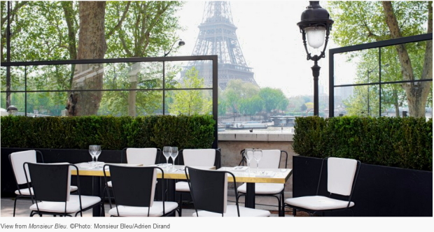 View from Monsieur Bleu. © Photo  Monsieur Bleu / Adrien Dirand / Paris