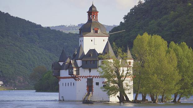 Burg Pfalz im Rhein © Copyright by PANORAMO Bild lizensieren: briefe@panoramo.de