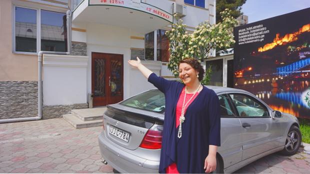 Anna Davitian-Gegia vom Metro Hotel Tiflis Georgier in Georgien © Copyright by PANORAMO