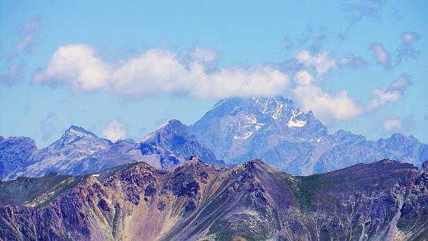 Blick auf den Monte Rose über dem Val Stura bei Ferrere © Copyright by Karl-Heinz Hänel