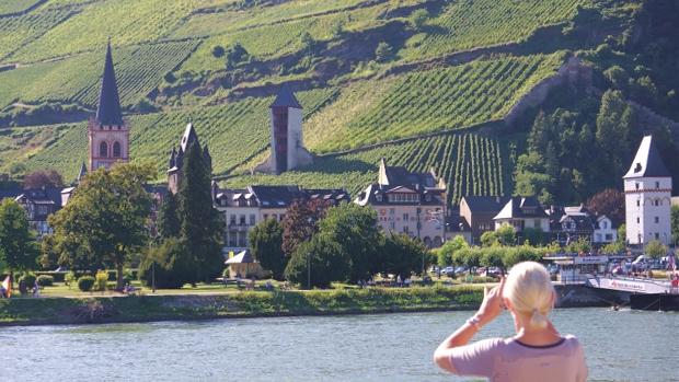 Bacharach am Rhein, Blick von der Flora von A-Rosa 2016 © Copyright by Karl-Heinz Hänel