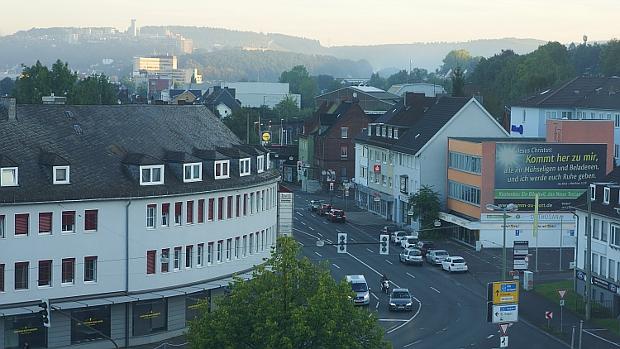morgentlicher Ausblick vom Ramada auf Siegen © Copyright by Karl-Heinz Hänel