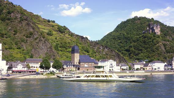 Burg Katz über Kestern am Rhein Foto © Copyright Karl-Heinz Haenel