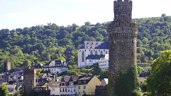 Oberwesel am Rhein Foto © Copyright Karl-Heinz Haenel