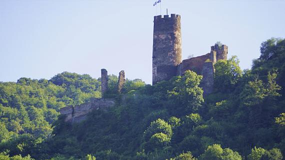 Ruine Rheindieb am Rhein Foto © Copyright Karl-Heinz Haenel