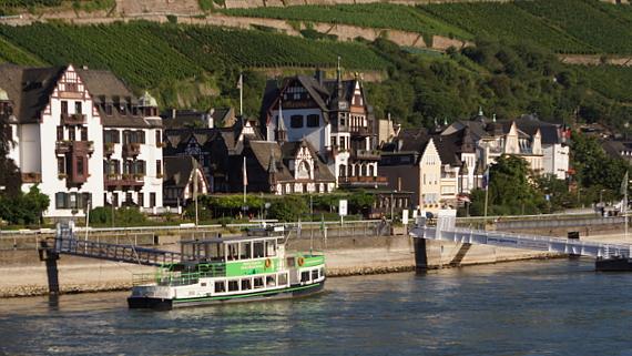Hotel Krone, Asmannshausen am Rhein Foto © Copyright Karl-Heinz Haenel