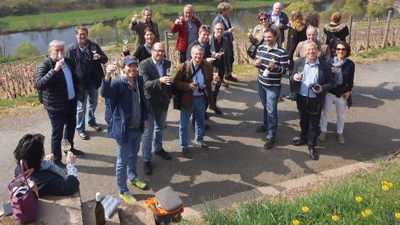 Journalistengruppe, Gäste des Deutschen Weininstitut © Copyright Karl-Heinz Hänel