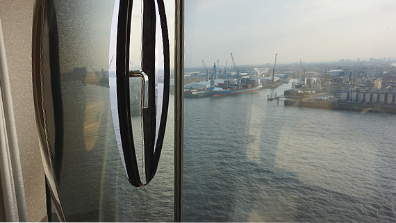 Blick aus dem Hotel Westin Hamburg © Copyright by Karl-Heinz Hänel