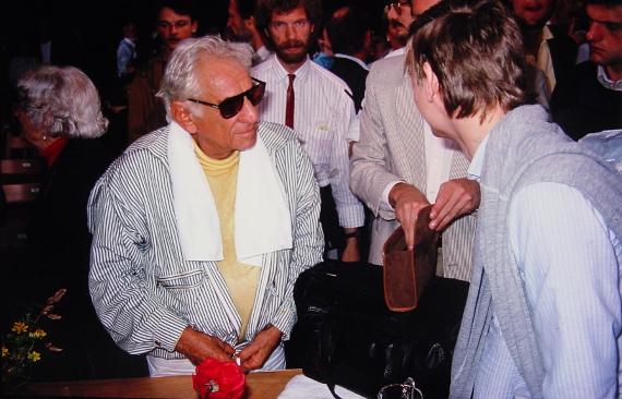 Leonard Bernstein 1988 in Salzau © Copyright by Karl-Heinz Hänel