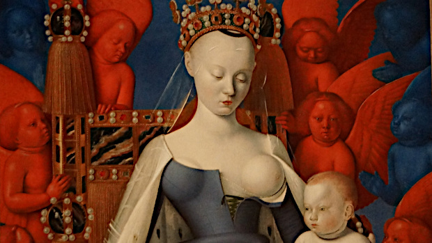 Virgin and Child (detail), © Copyright side of Melun Diptych, about 1452 –1455